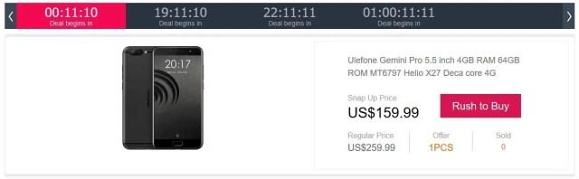 Ulefone Gemini Pro Snap up