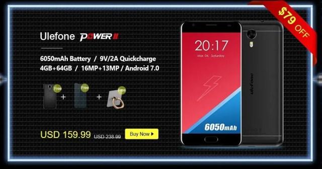 GeekBuying Ulefone ブランドセール Ulefone Power 2