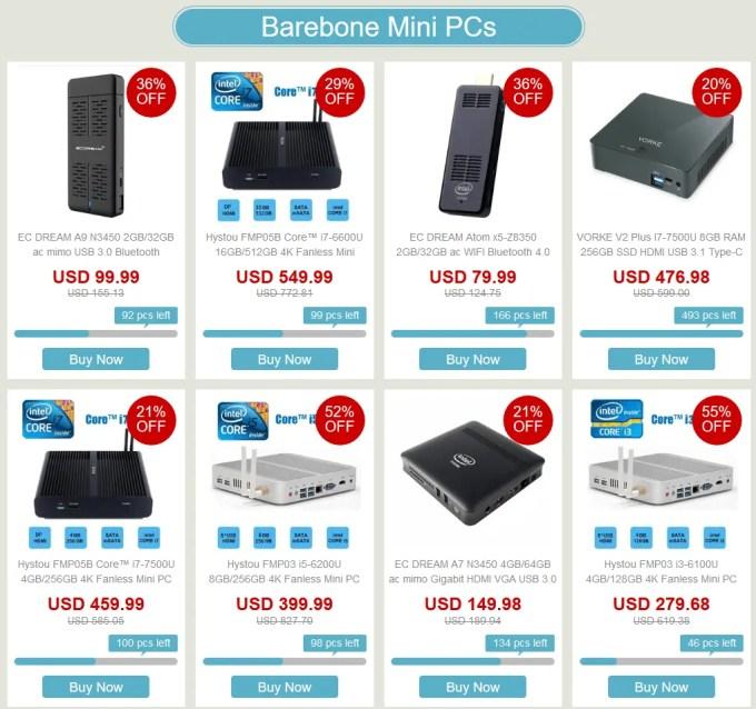 ベアボーン Mini PC