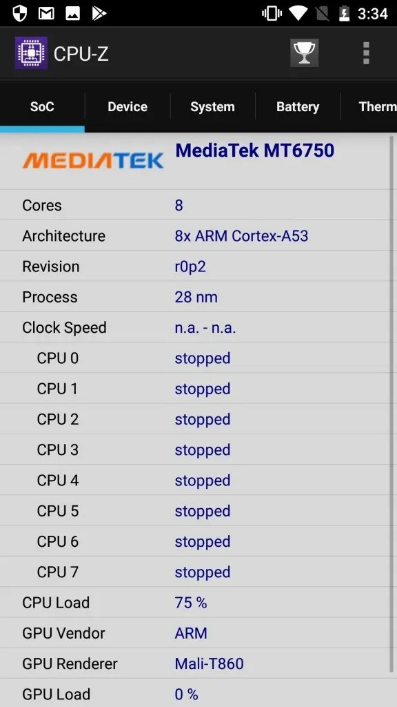 OUKITEL K10000 Pro CPU-Z1