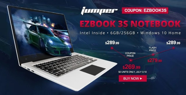 Jumper EZbook 3S Notebook キャンペーン
