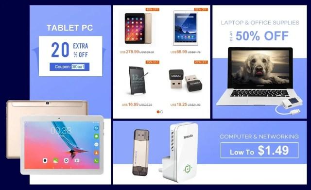中華タブレット・ラップトップ 20%オフ クーポンコード