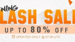 【GearBest】最大80%オフ フラッシュセール + Zidoo TV BOXセール + デイリークーポン