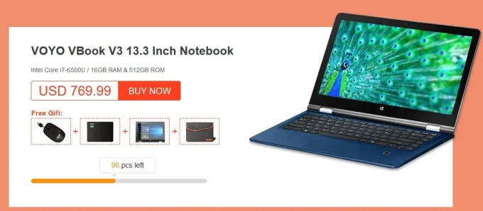 GeekBuying VOYOブランドセール VBook V3 Core i5