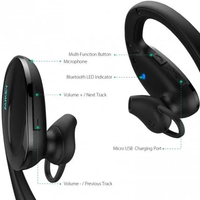 AUKEY Bluetooth ヘッドセット EP-B34 5