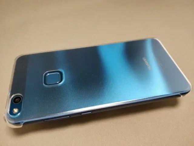 Huawei P10 Lite 裏 ケース装着 斜め