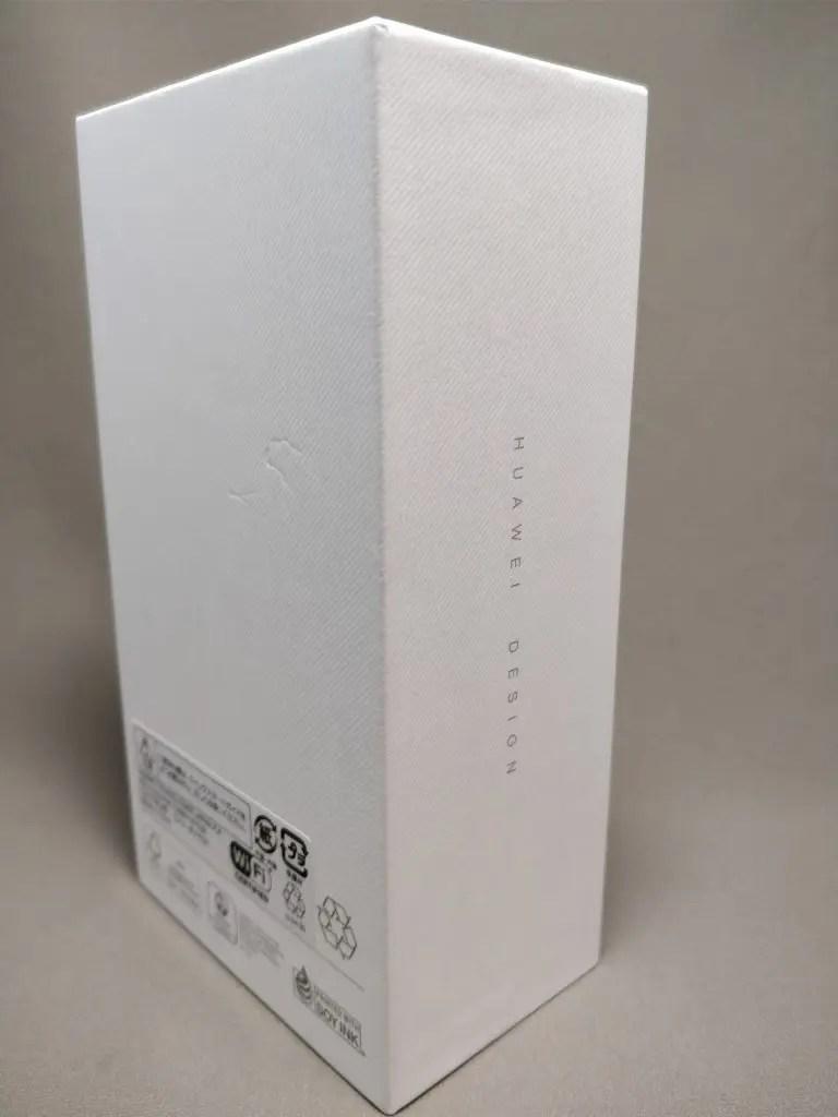Huawei P10 Plus 化粧箱 裏 斜め