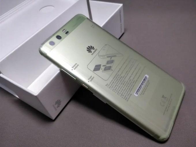Huawei P10 Plus 化粧箱 開封 裏