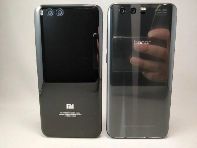 Xiaomi Mi6 & Huawei Honor 9 裏