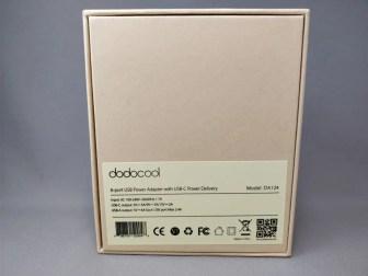 dodocool 60W 6ポート USB急速充電器 化粧箱 裏