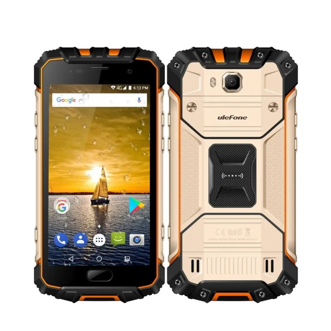 tomtop Ulefone Armor 2 MTK6757T Helio P25 2.5GHz 8コア GOLD(ゴールド)