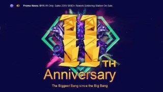 【Banggood 11周年アニバーサリー】キャンペーン開始!まずは11%Offクーポン