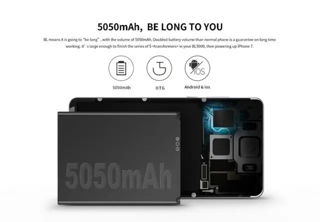 DOOGEE BL5000 大容量バッテリー