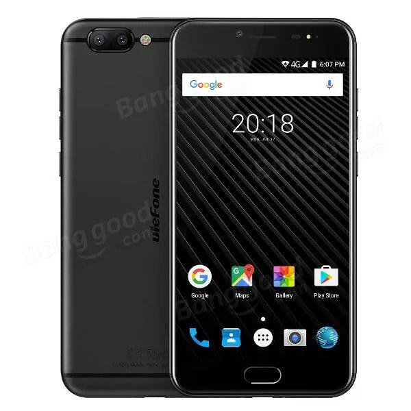 banggood Ulefone T1 MTK6757T Helio P25 2.5GHz 8コア BLACK(ブラック)