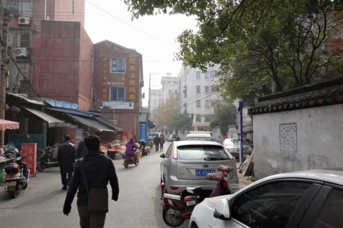 路地を入った蘇州の町並み