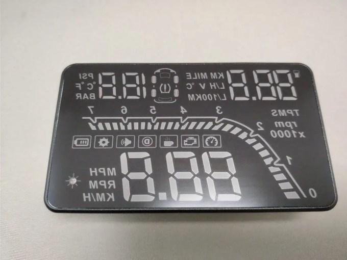 KKmoon カーHUDヘッドアップディスプレイ 空気圧 本体 表