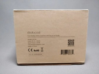 dodocool 完全独立IPX5スポーツイヤホン 化粧箱 裏