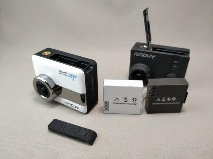 Andoer 4K タッチパネル式 アクションカメラ AN1 本体 バッテリー 比較