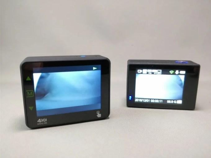 Andoer 4K タッチパネル式 アクションカメラ AN1 本体 AN7000比較 ディスプレイ