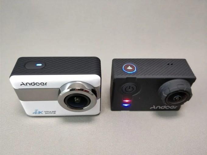 Andoer 4K タッチパネル式 アクションカメラ AN1 本体 AN7000比較 表 斜め上