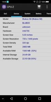 BLUBOO S8 CPU-Z2