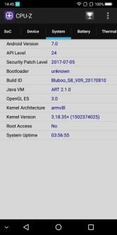 BLUBOO S8 CPU-Z3
