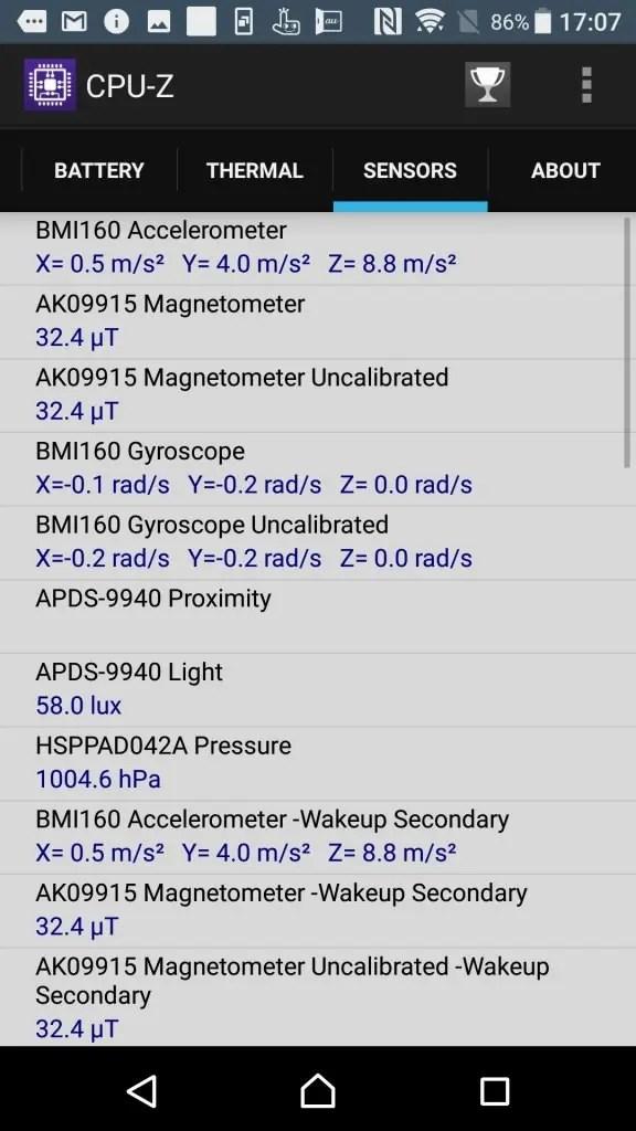Xperia XZs CPU-Z 9