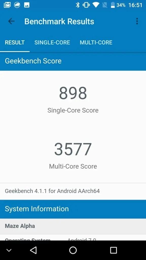 MAZE Alpha GeekBench898