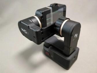 Xiaomi Mijia Camera Mini アクションカメラ FeiyuTech WG2に装着 後ろ