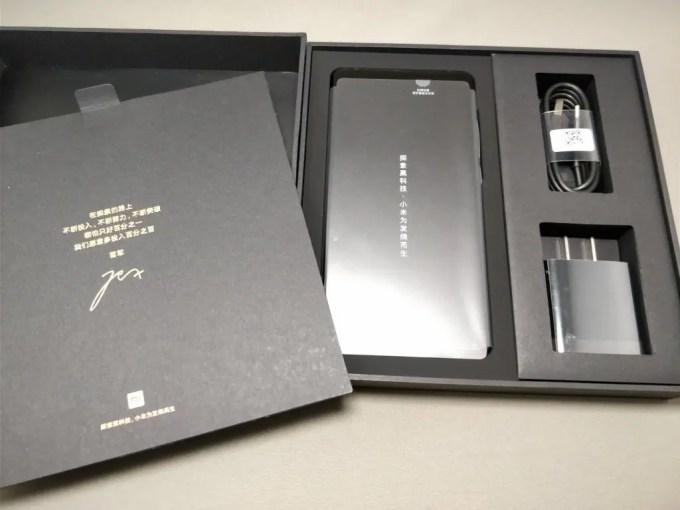 Xiaomi Mi MIX 2 化粧箱 開封 本体