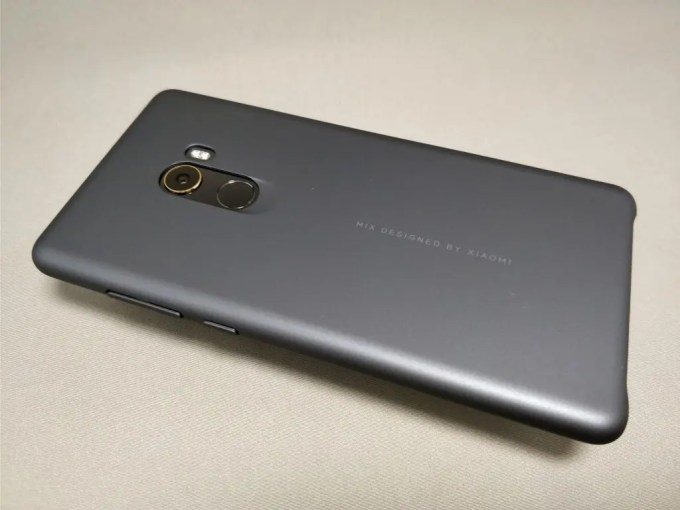 Xiaomi Mi MIX 2 保護ケース装着 裏