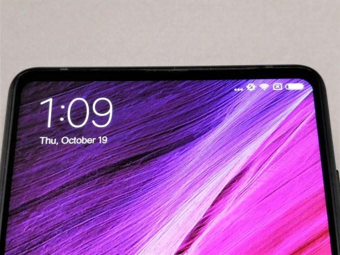 Xiaomi Mi MIX 2 ディスプレイ ラウンド