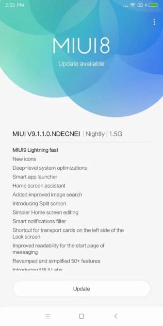 Xiaomi Mi MIX 2 アップデート9