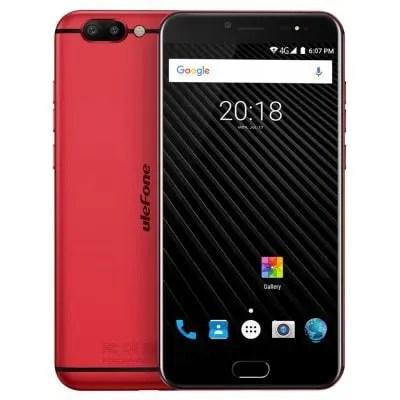 gearbest Ulefone T1 MTK6757T Helio P25 2.5GHz 8コア RED(レッド)
