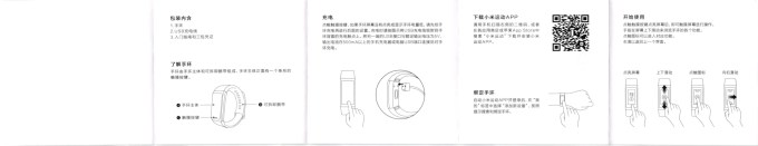 Xiaomi AMAZFIT Heart Rate Smartband 取説1