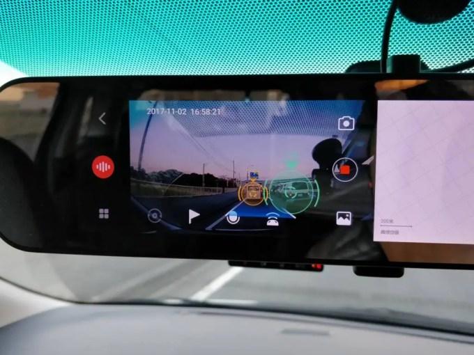 Xiaomi 70Steps スマートルームミラーADAS(先進運転支援システム)の様子2