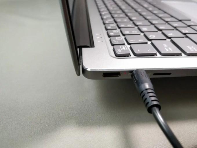 Chuwi Lapbook Air  電源プラグ