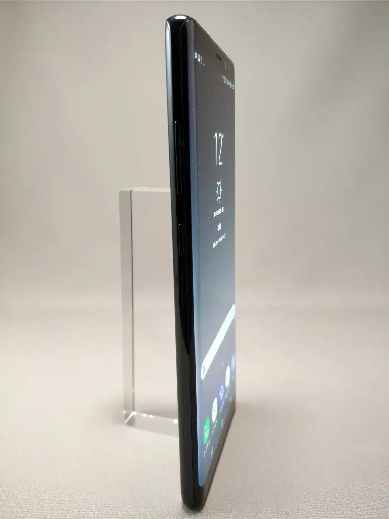 Galaxy note 8 表 ブラック 10