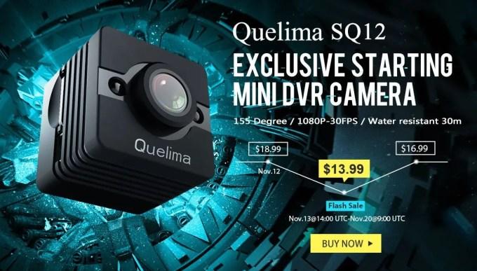 Quelima SQ12 Mini 1080P FHD DVR