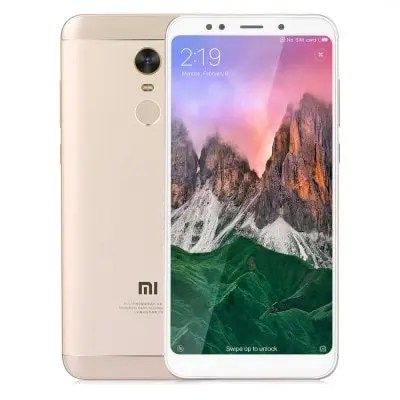 gearbest Xiaomi Redmi 5 Plus Snapdragon 625 MSM8953 2.0GHz 8コア GOLDEN(ゴールデン)