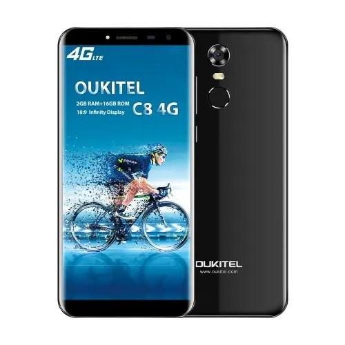 tomtop OUKITEL C8 MTK6737 1.3GHz 4コア BLACK(ブラック)