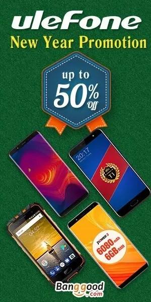 Banggood Ulefone 50%オフ