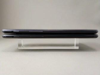 OnePlus 5Tと旧機種OnePlus 5 外観比較 側面左
