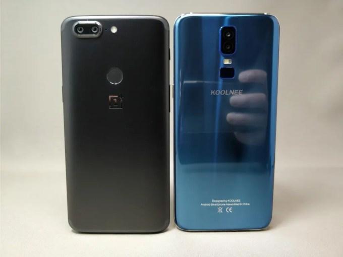 OnePlus 5T と KOOLNEE K1 外観比較裏