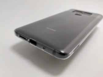 Huawei Mate 10 Pro 化粧箱 開封 保護ケース 表 斜め