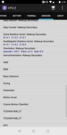 OnePlus 5T CPU-Z 7