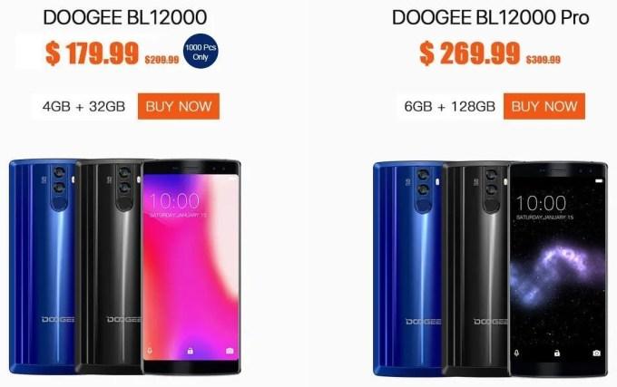 DOOGEE BL12000 Pro プレセール 価格