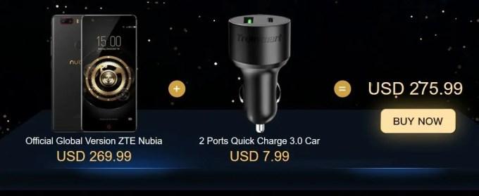 Nubia Z17 liteとTronsmart製品セットでお安く  Nubia Z17 liteとTronsmart製品 バンドル セール シガーUSB