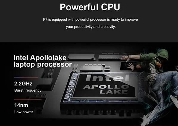 Teclast F7 Notebook 商品画像 CPU