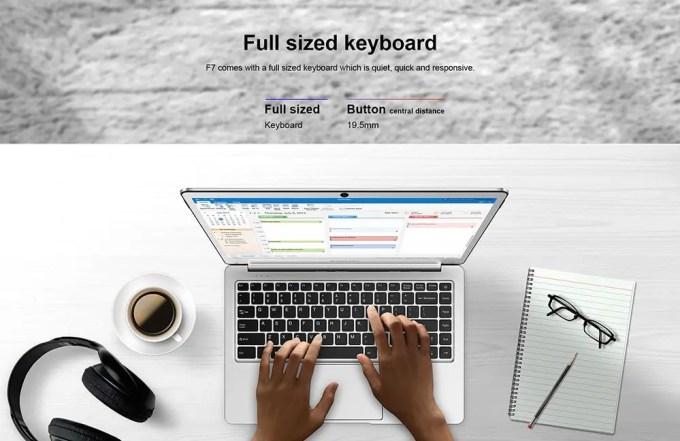 Teclast F7 Notebook 商品画像 キーボード